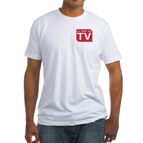 Funny As Seen on TV Logo Fitted T-Shirt