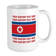 CUSTOM TEXT North Korea Flag Mug