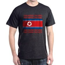 CUSTOM TEXT North Korea Flag T-Shirt