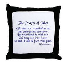 Jabez Prayer Throw Pillow