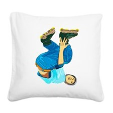 Rollerblading Square Canvas Pillow