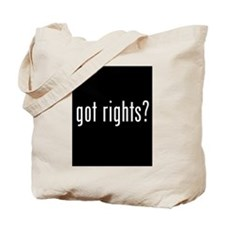 Got Rights? Tote Bag - Unique Gift -
