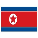 Funny North korea flag Wall Art