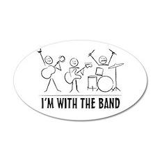 stickman band Wall Decal