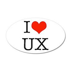 I heart UX Wall Decal