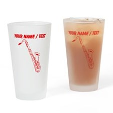 Custom Red Saxophone Drinking Glass