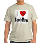 I Love Bloody Marys (Front) Ash Grey T-Shirt