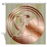 Kokopelli Circle of Life #4 Shower Curtain