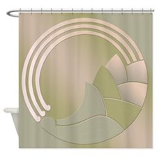 Art Deco Circle of Life Shower Curtain