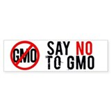 NO GMO Bumper Bumper Stickers