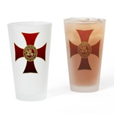 Templar cross and seal Drinking Glass