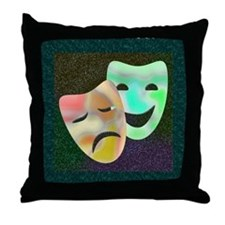 Drama Thespian Masks Throw Pillow