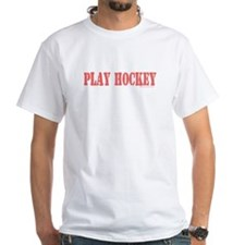 PLAY HOCKEY White T-shirt