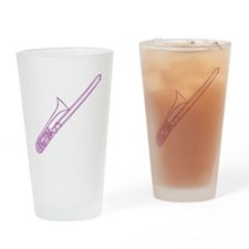Purple Trombone Drinking Glass