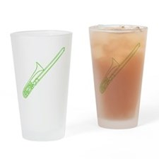 Green Trombone Drinking Glass