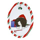 Cardigan Welsh Corgi Christmas Oval Ornament