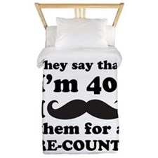 Funny Mustache 40th Birthday Twin Duvet