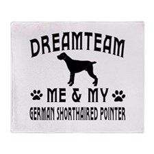 German Shorthaired Pointer Dog Designs Throw Blank