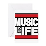 music is my life red Greeting Card