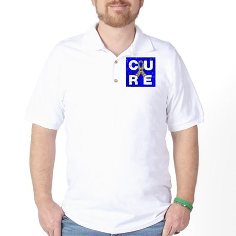 Cure Autism Cube Golf Shirt