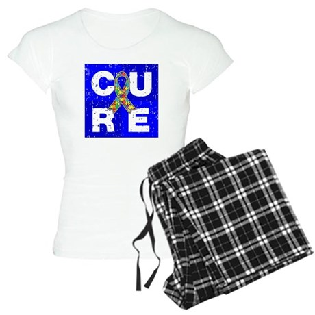 Cure Autism Cube Women's Light Pajamas