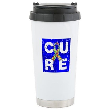 Cure Autism Cube Ceramic Travel Mug