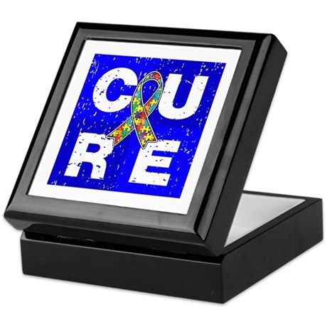 Cure Autism Cube Keepsake Box