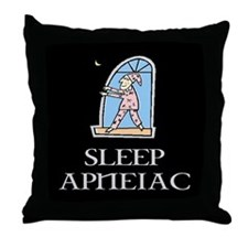 SLEEP APNEIAC Throw Pillow