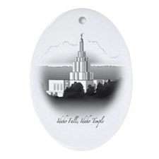 Idaho Falls, Idaho Temple Oval Ornament