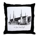 Las Vegas, Nevada Temple Throw Pillow