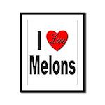 I Love Melons Framed Panel Print