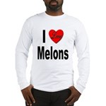 I Love Melons (Front) Long Sleeve T-Shirt