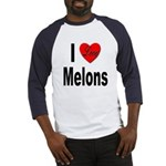 I Love Melons (Front) Baseball Jersey