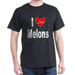 I Love Melons (Front) Dark T-Shirt