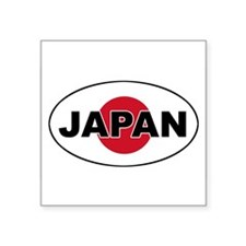 Japanese Flag Oval Sticker