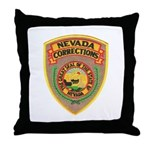 Nevada Corrections Throw Pillow