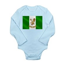 Nigerian Eagle Flag Long Sleeve Infant Bodysuit