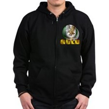Nigerian Football Gold Zip Hoodie