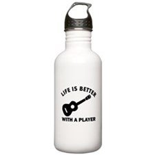 Ukulele Designs Water Bottle