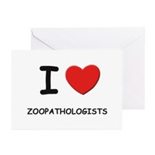 I Love zoopathologists Greeting Cards (Package of