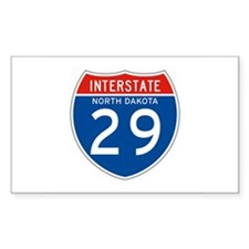 Interstate 29 - SD Rectangle Decal