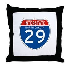 Interstate 29 - SD Throw Pillow