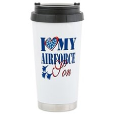 I Love My Airforce Son Travel Mug