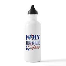 I Love My Airforce Nephew Water Bottle