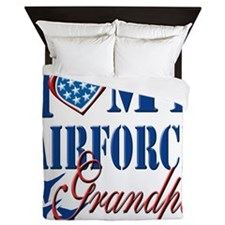 I Love My Airforce Grandpa Queen Duvet