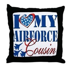 I Love My Airforce Cousin Throw Pillow