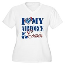 I Love My Airforce Cousin Plus Size T-Shirt
