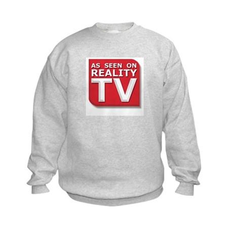 Funny As Seen on Reality TV Logo Kids Sweatshirt