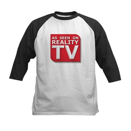 Funny As Seen on Reality TV Logo Kids Baseball Jer