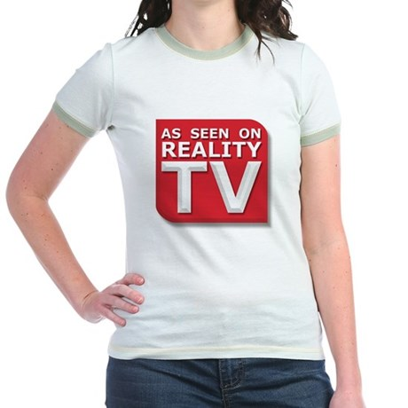 Funny As Seen on Reality TV Logo Jr. Ringer T-Shir